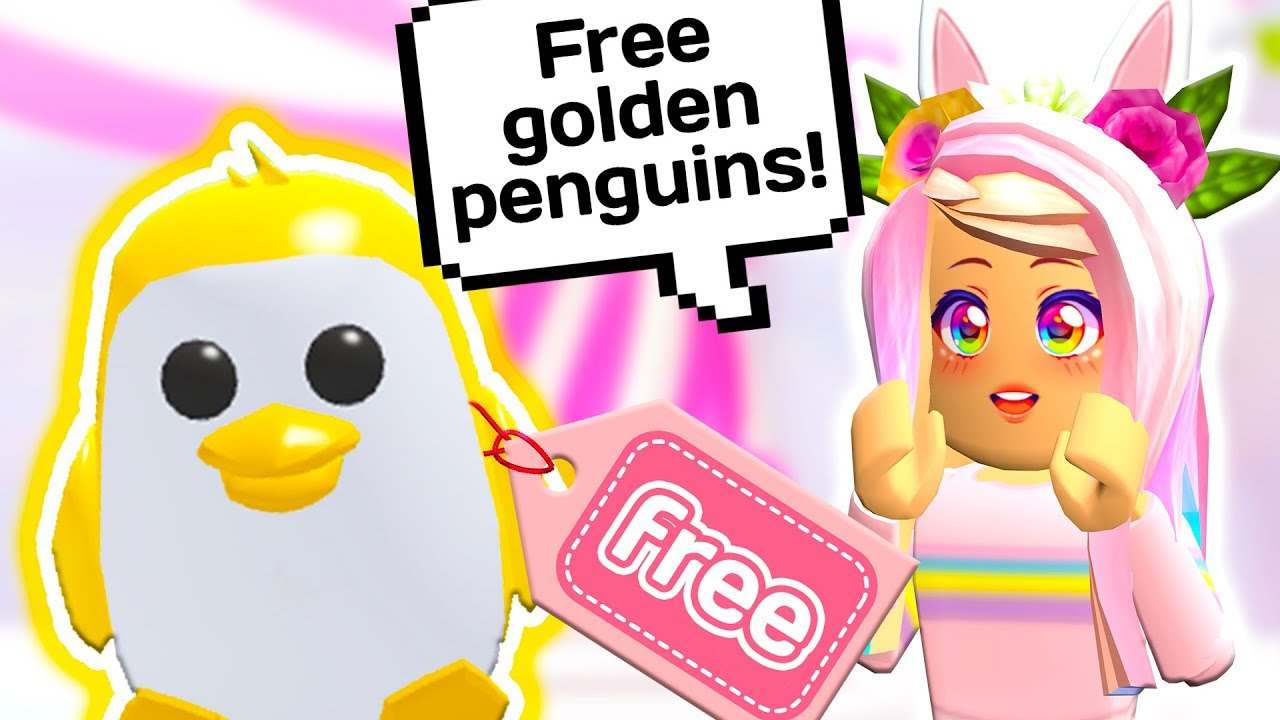 The Easiest Way To Get A Free Golden Penguin Roblox Adopt Me Update