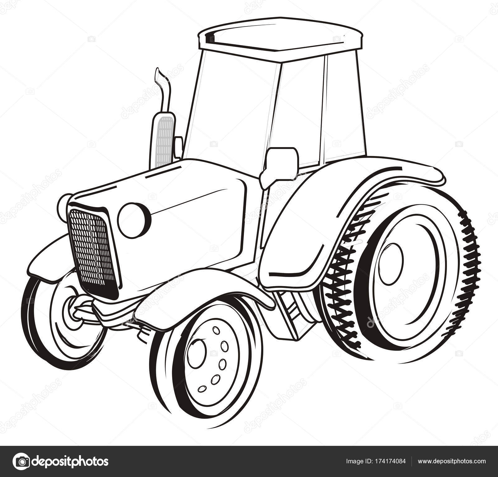 Https Id Depositphotos Com 174174084 Stock Photo One Farm Tractor Stand Html