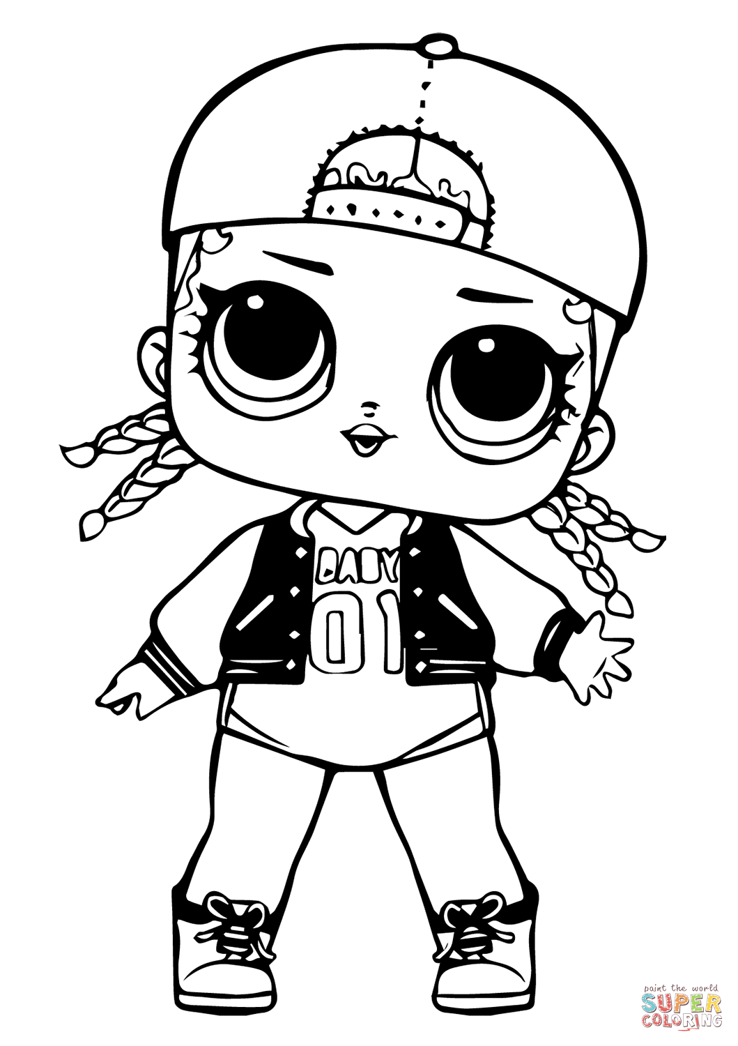 Lol Doll Mc Swag Coloring Page Free