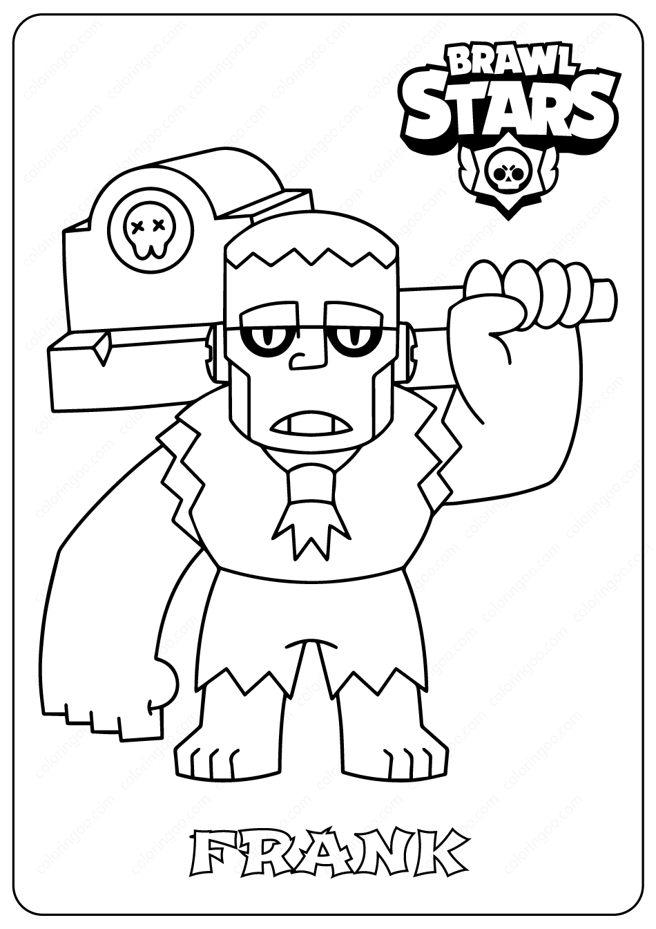 Brawl Stars Coloring Pages Jessie