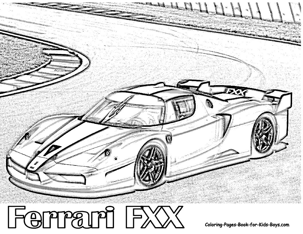 Ferrari Fxx Coloring Pages Download