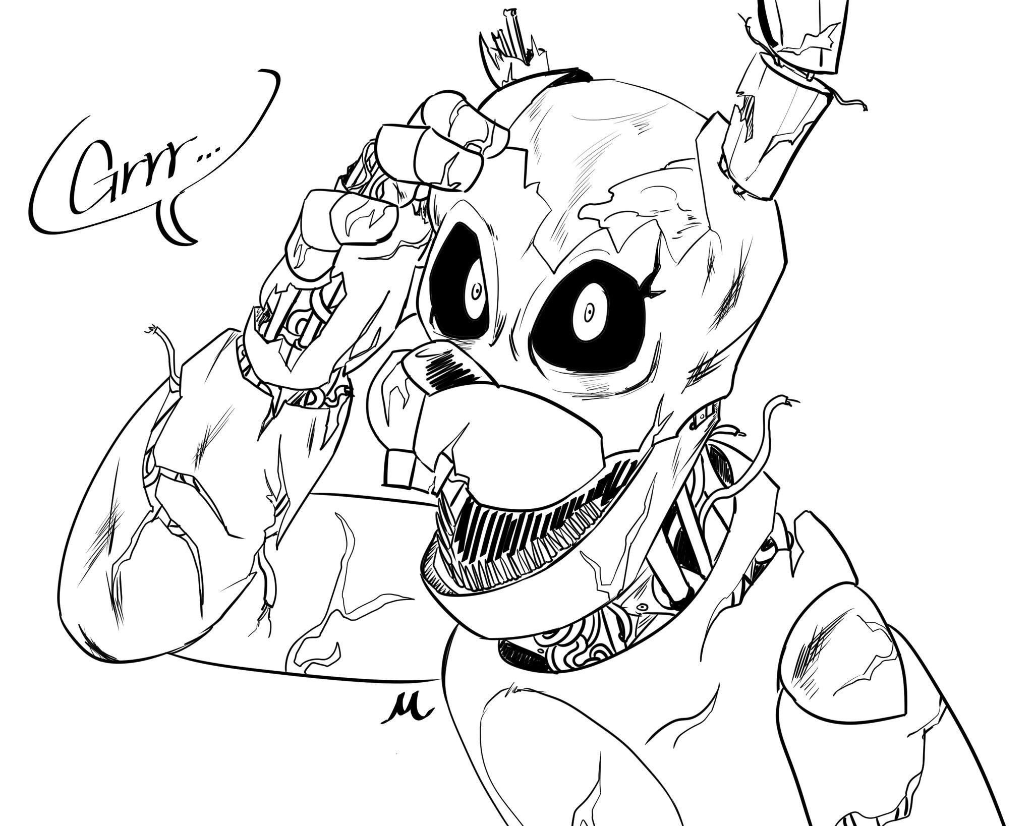 Baby Five Nights At Freddy S Coloring