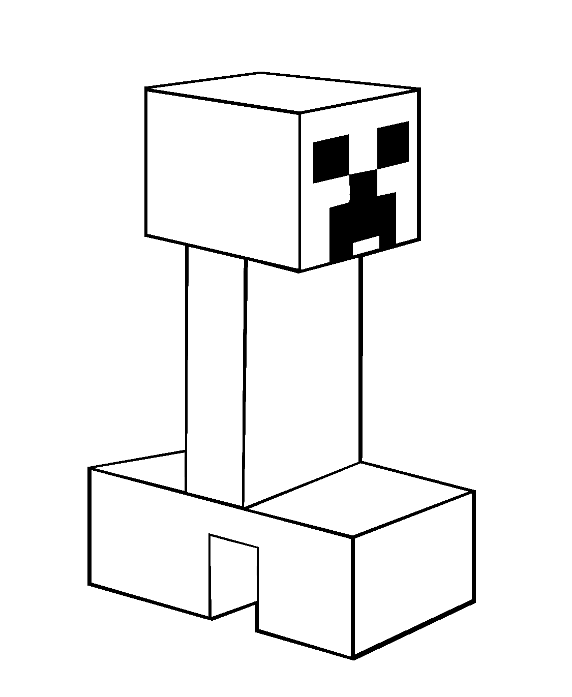 Creeper From Minecraft Coloring Pages