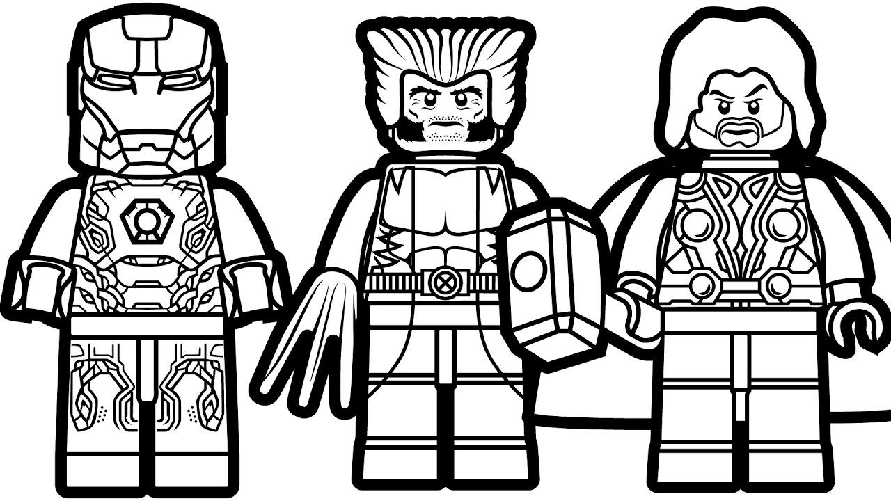 Iron Man Lego Avengers Coloring Pages