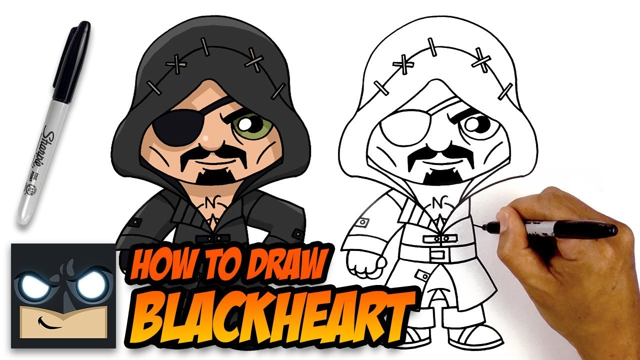 How To Draw Fortnite Blackheart Step By Step