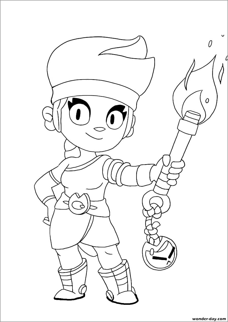 Brawl Stars Coloring Pages Amber