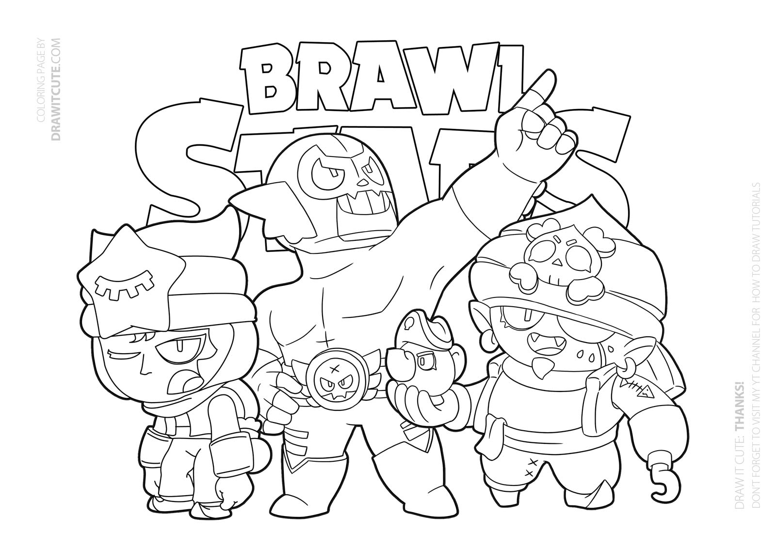 Brawl Stars Coloring Pages Werewolf