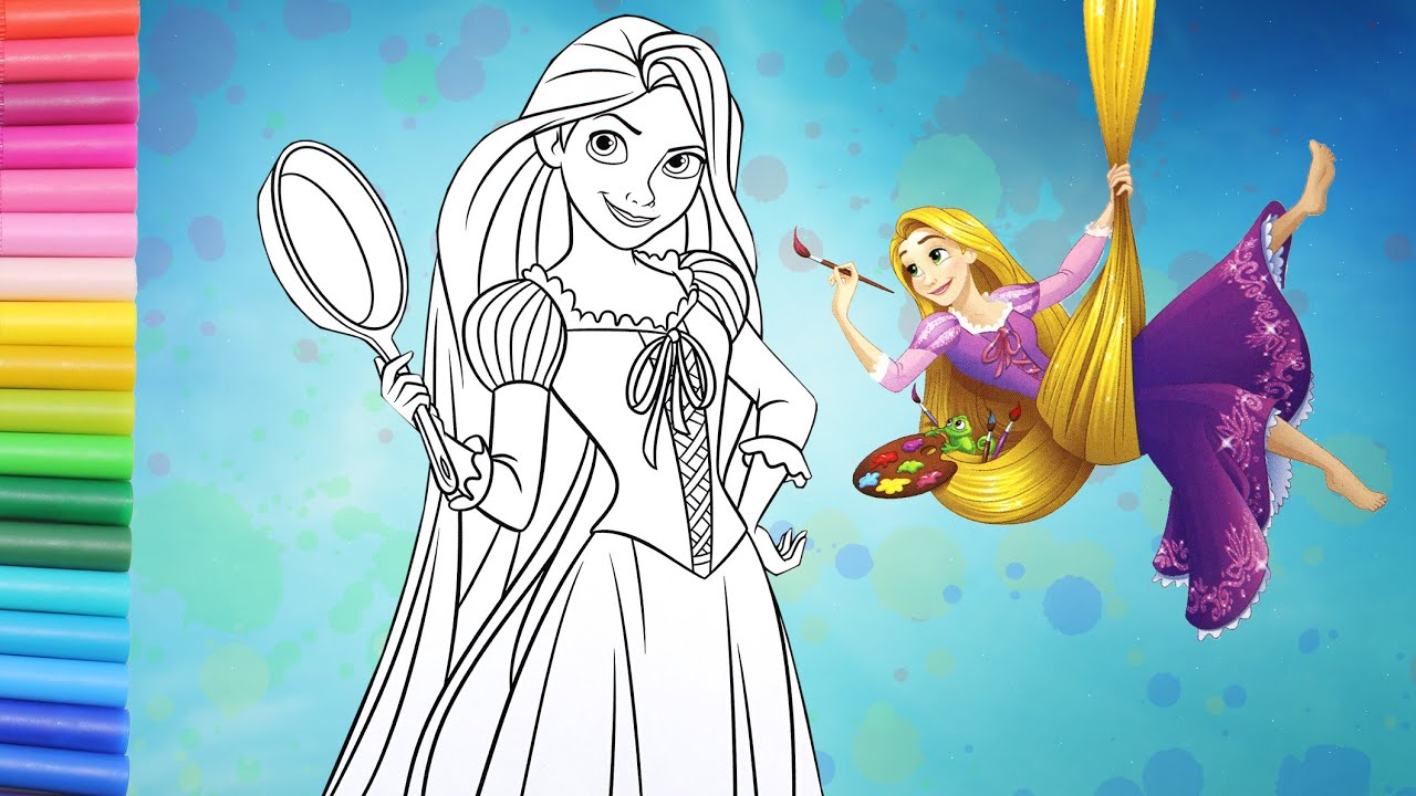 Rapunzels Tangled Adventure Coloring Pages