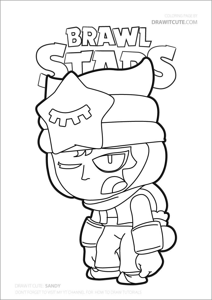 Shelly Brawl Stars Coloring Pages