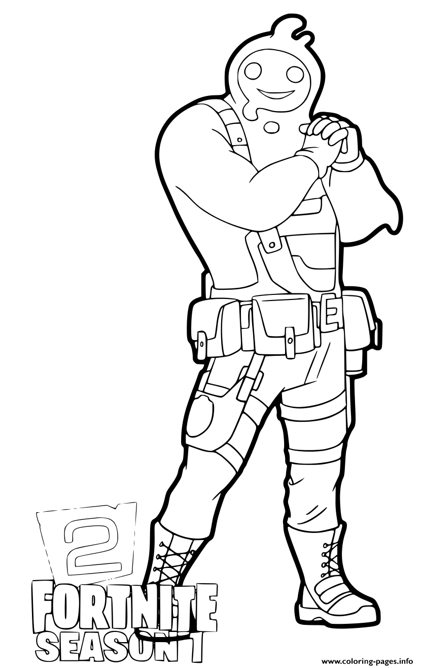 Fortnite Sign Coloring Pages Coloring