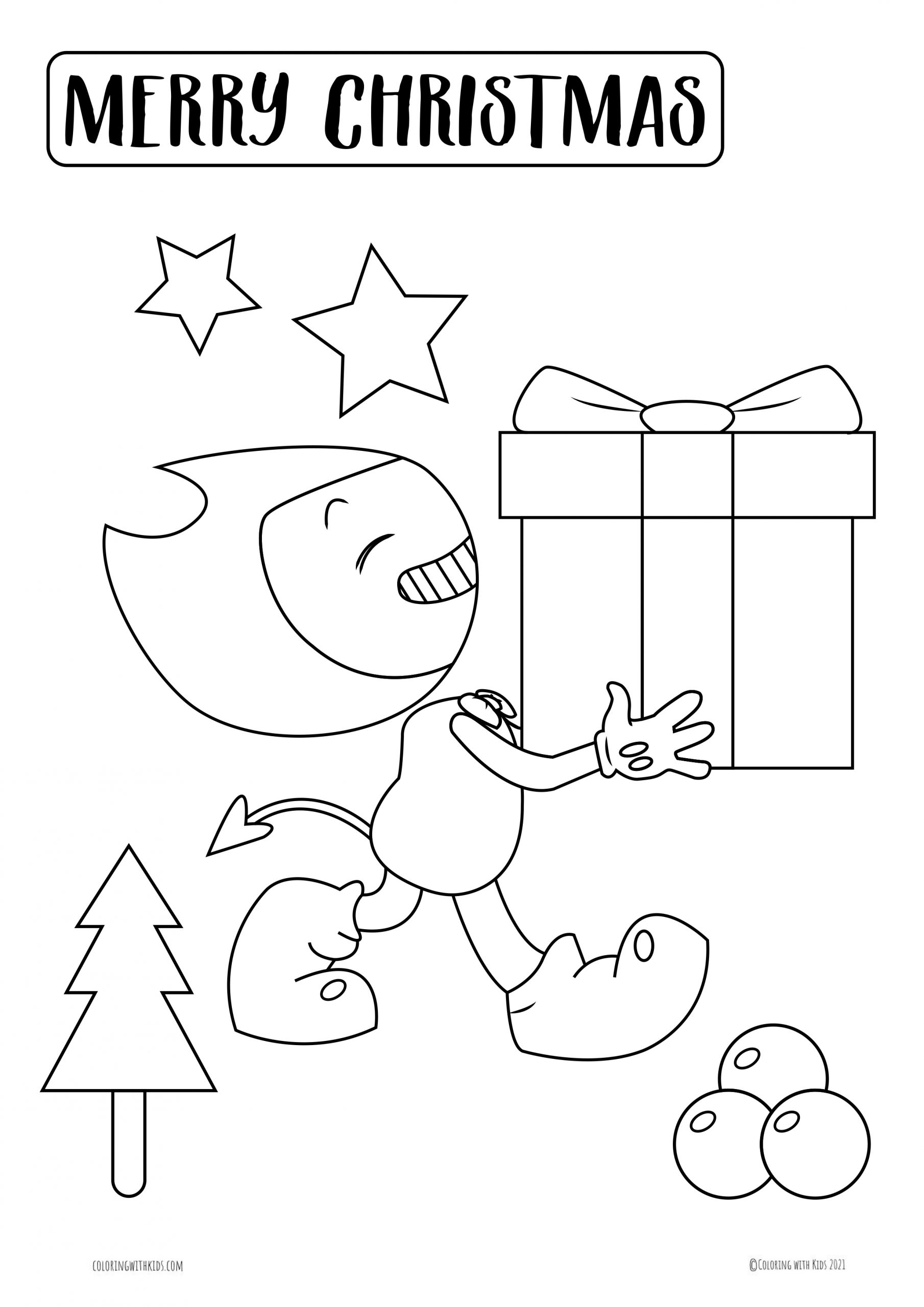 Christmas Bendy Coloring Page