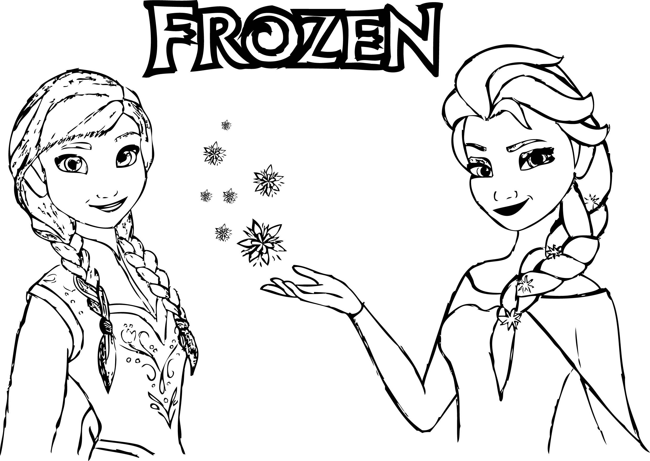 Elsa Anna Coloring Pages Crazypurplemama