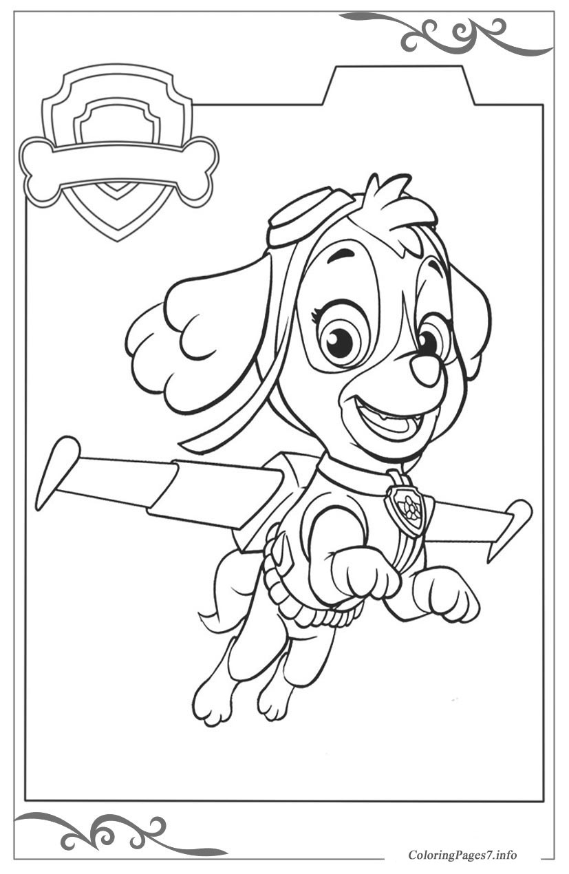Paw Patrol Download Coloring Pages For Kids