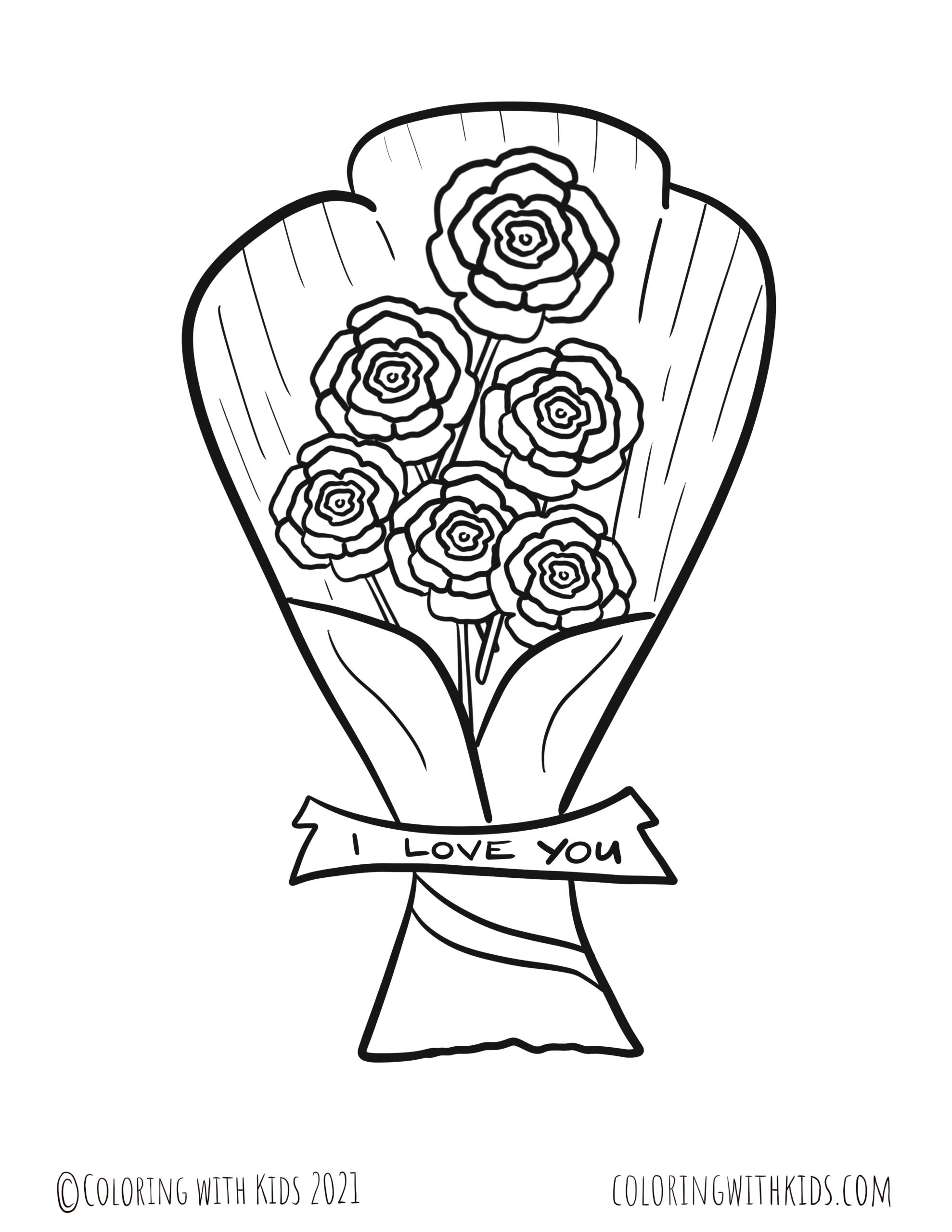 Rose Coloring Pages Coloring With Kids