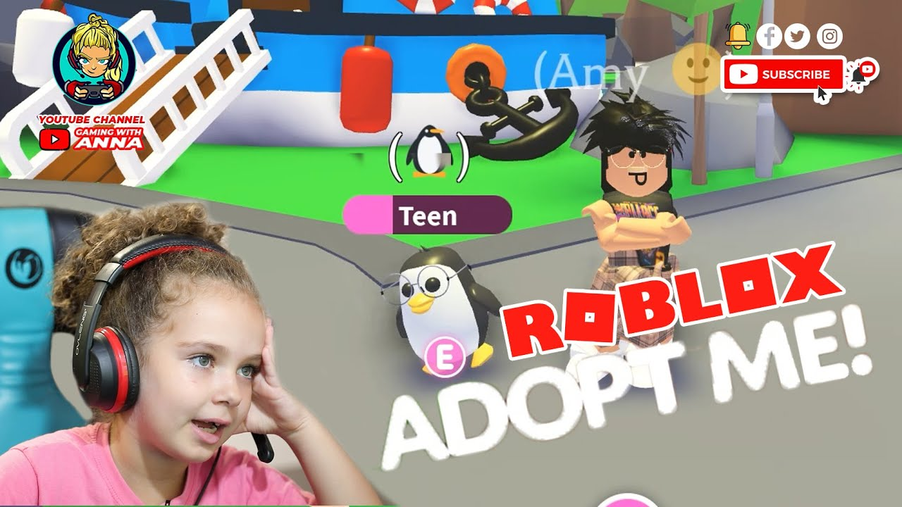 I Have A Ride Penguin In Adopt Me Roblox Gaming With Anna
