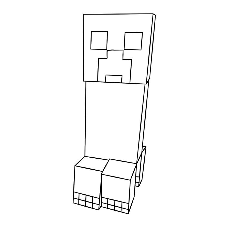 Minecraft Coloring Pages Enderman Face