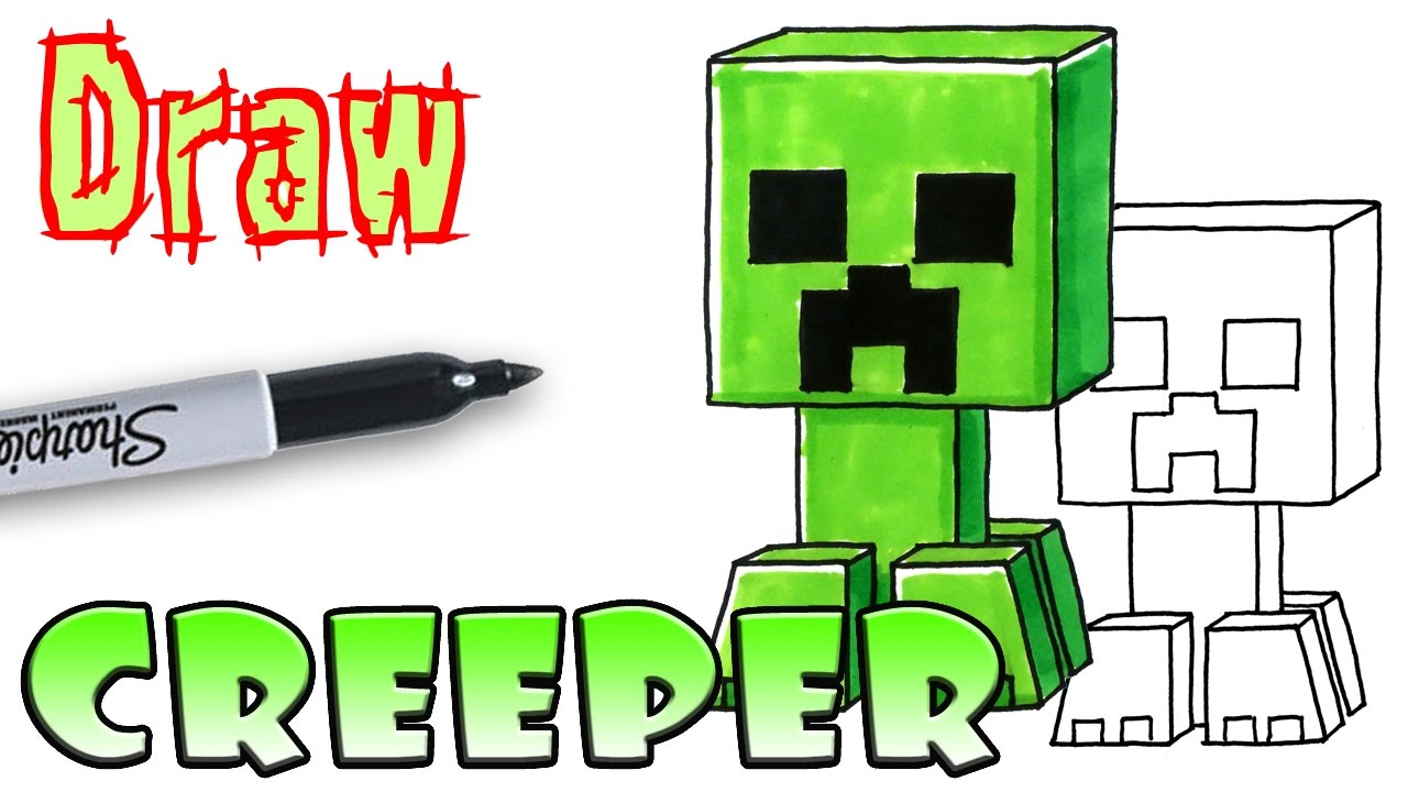 How To Draw The Creeper Minecraft Coloring Pages