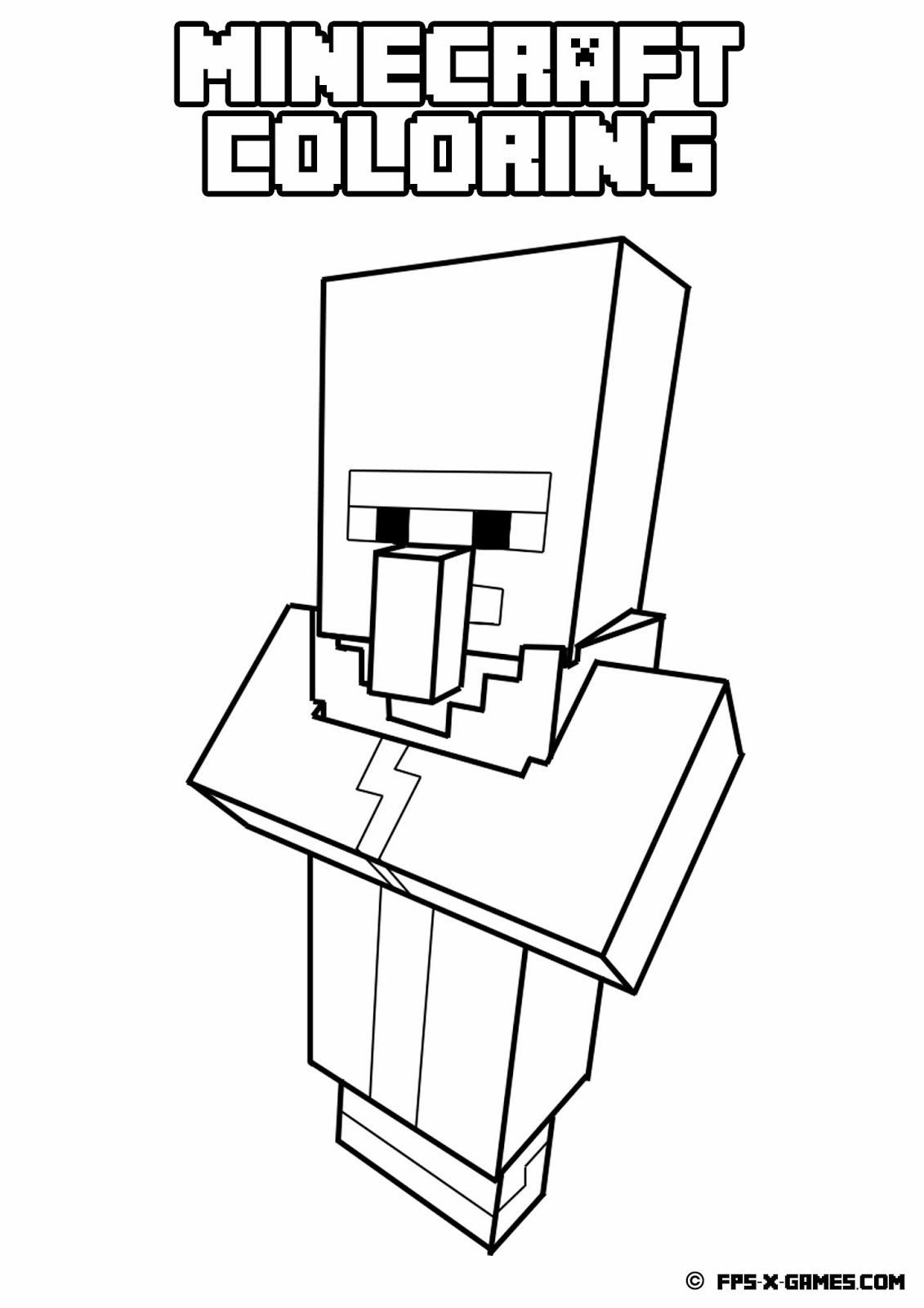 Minecraft Boy And Girl Coloring Pages