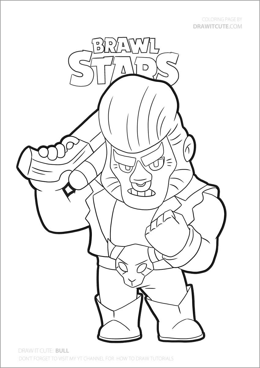 Brawl Stars Coloring Pages Bull
