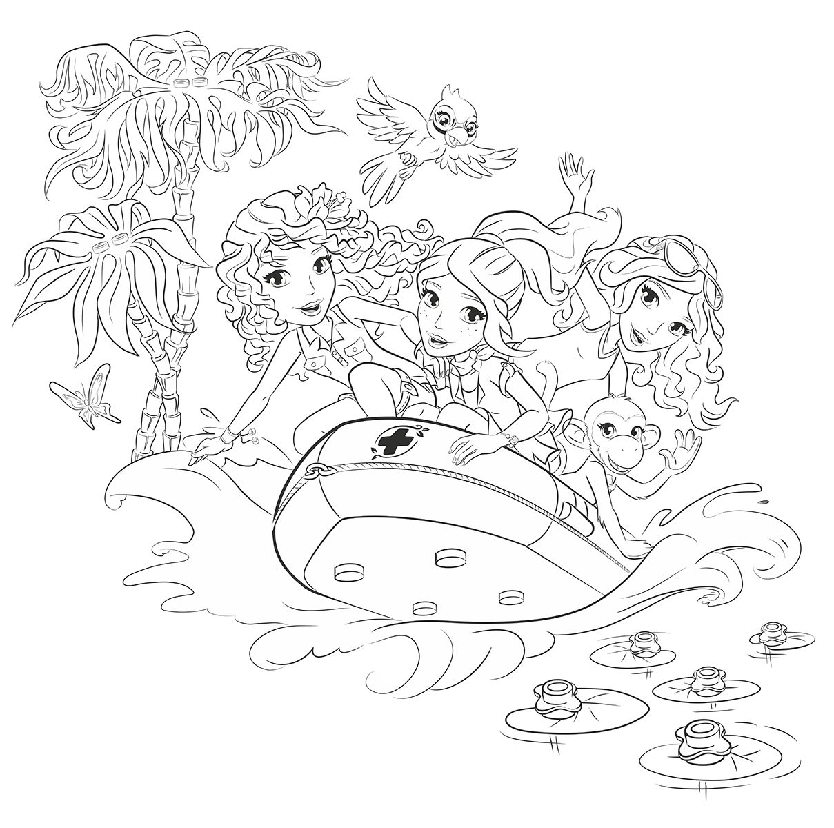8 Coloring Pages Lego Friends Ideas