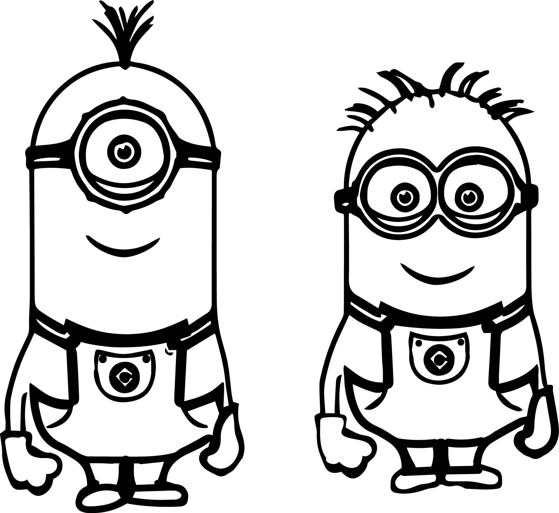 Printable Christmas Minion Coloring Pages