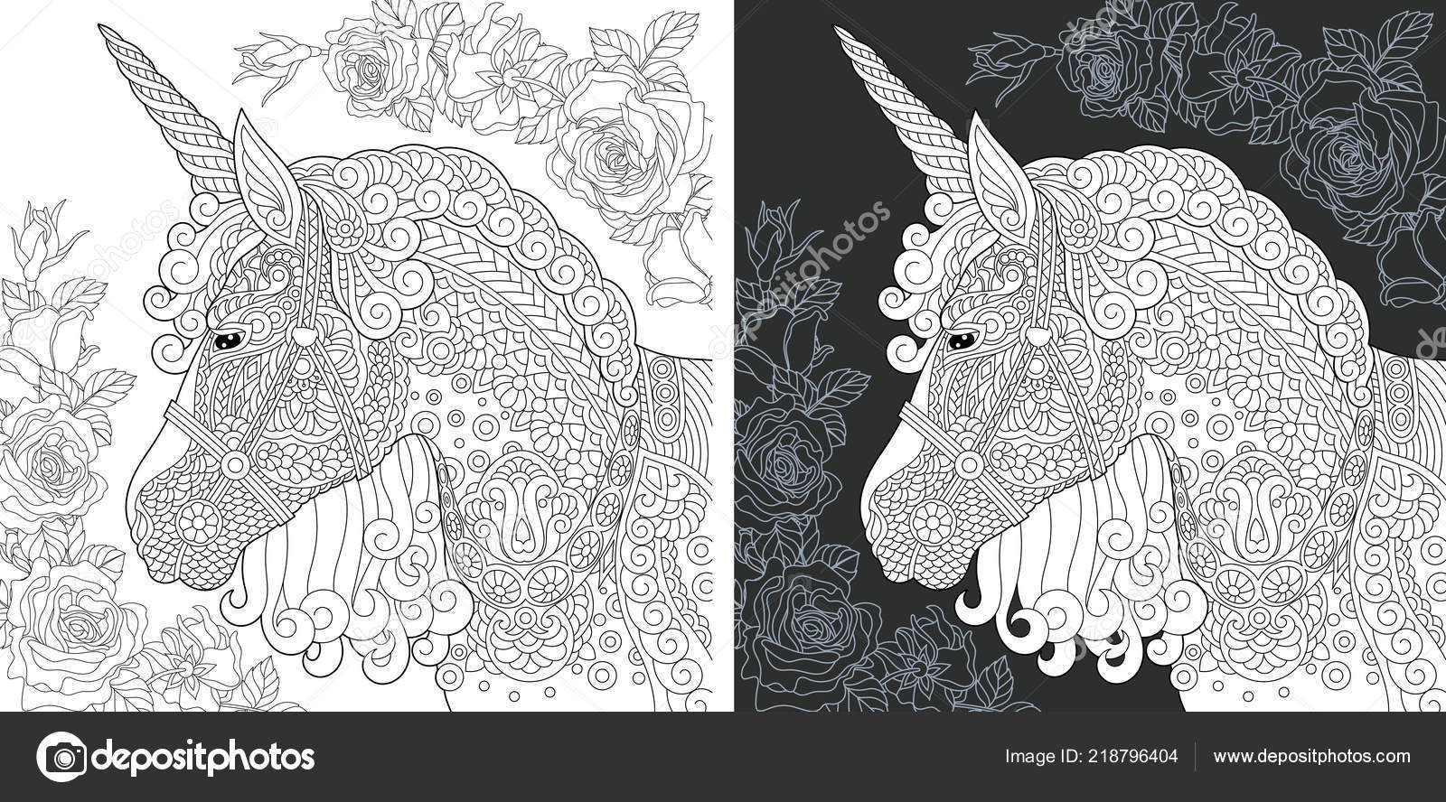 Https Cz Depositphotos Com 218796404 Stock Illustration Unicorn Coloring Page Coloring Book Html