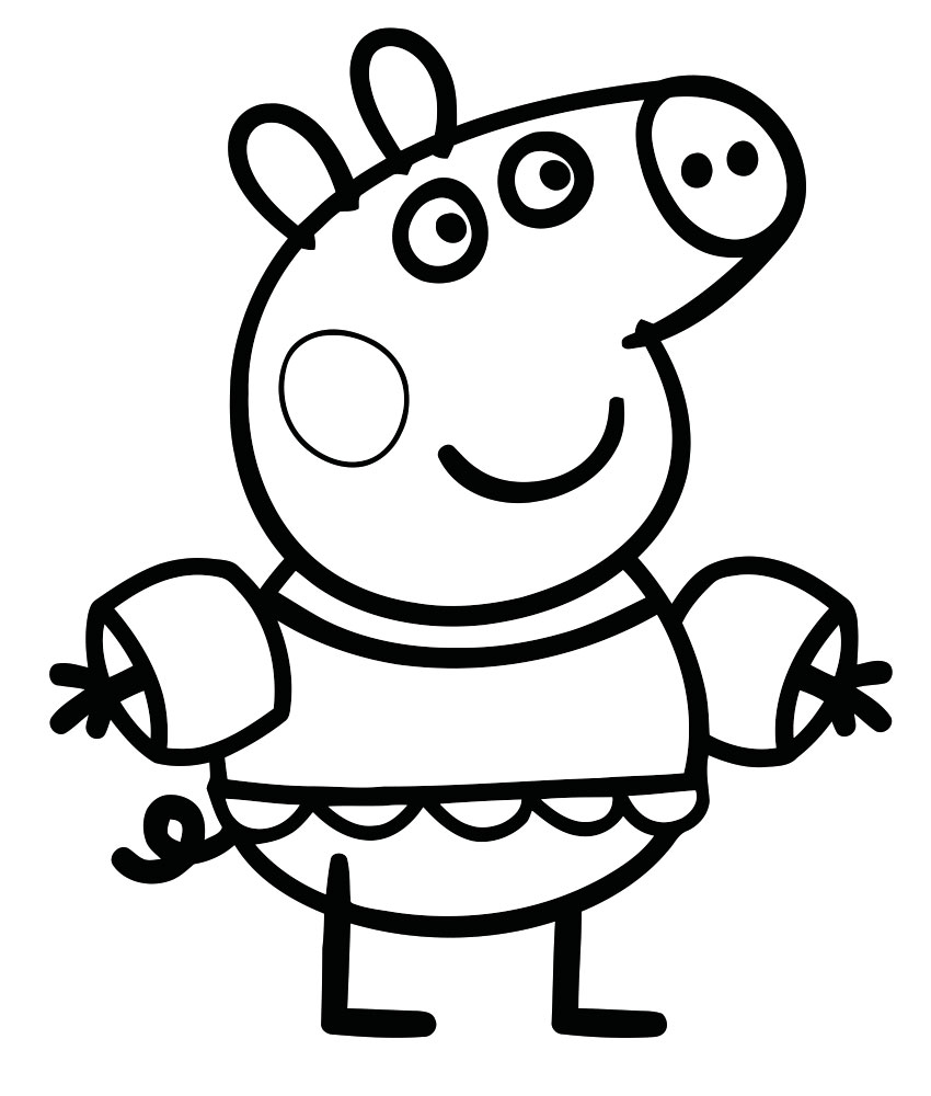 Peppa Pig Coloring Pages Pdf Coloring