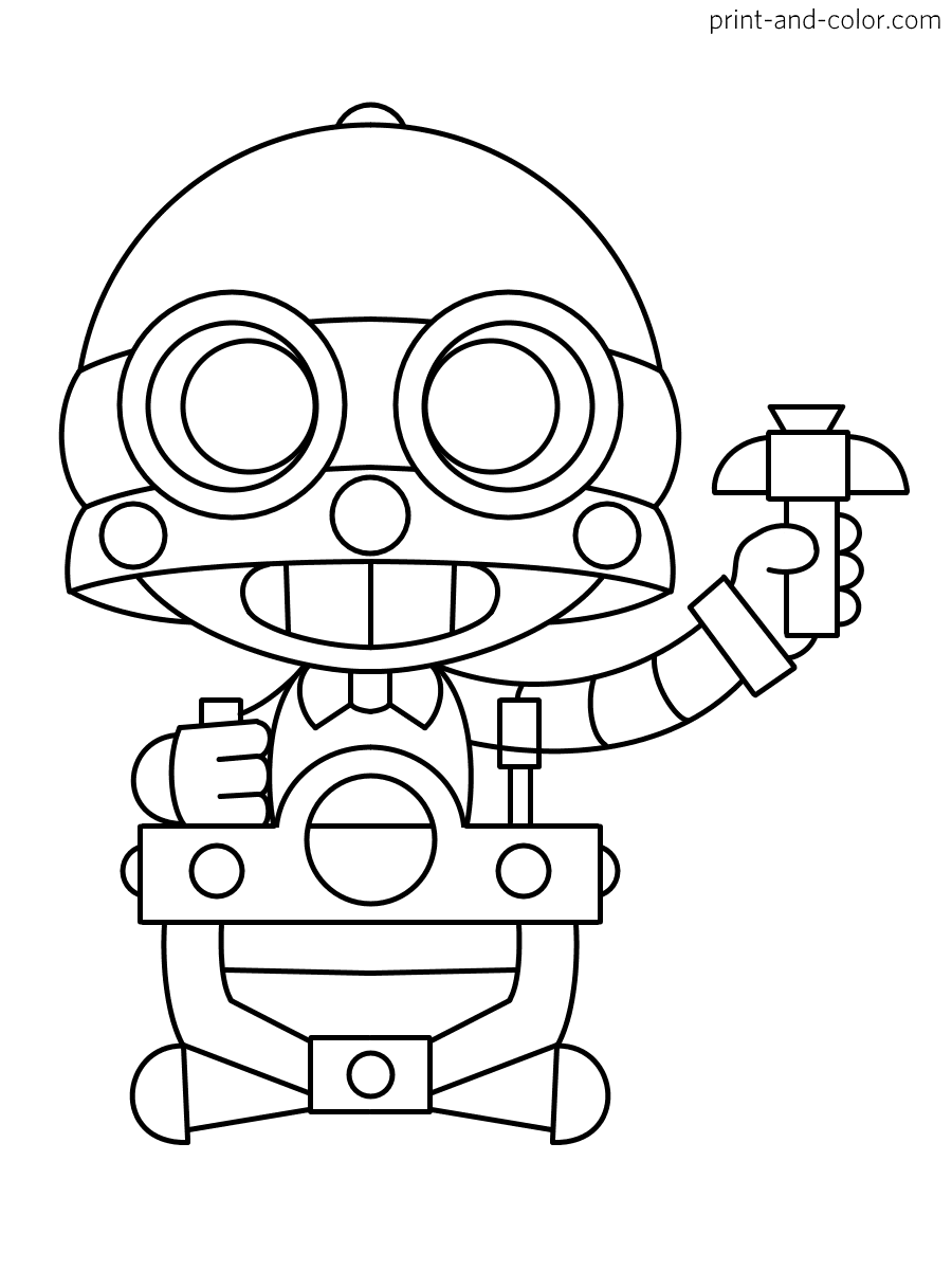 Coloring Pages Of Brawl Stars