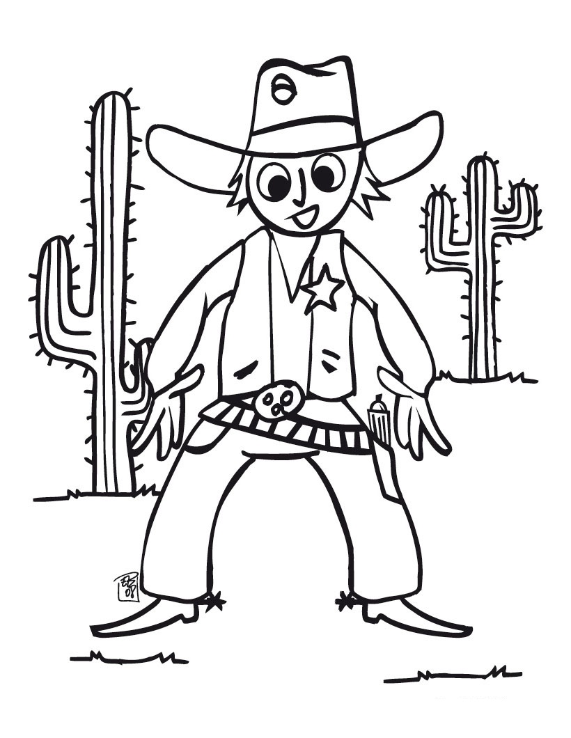 Western Template Coloring Pages For