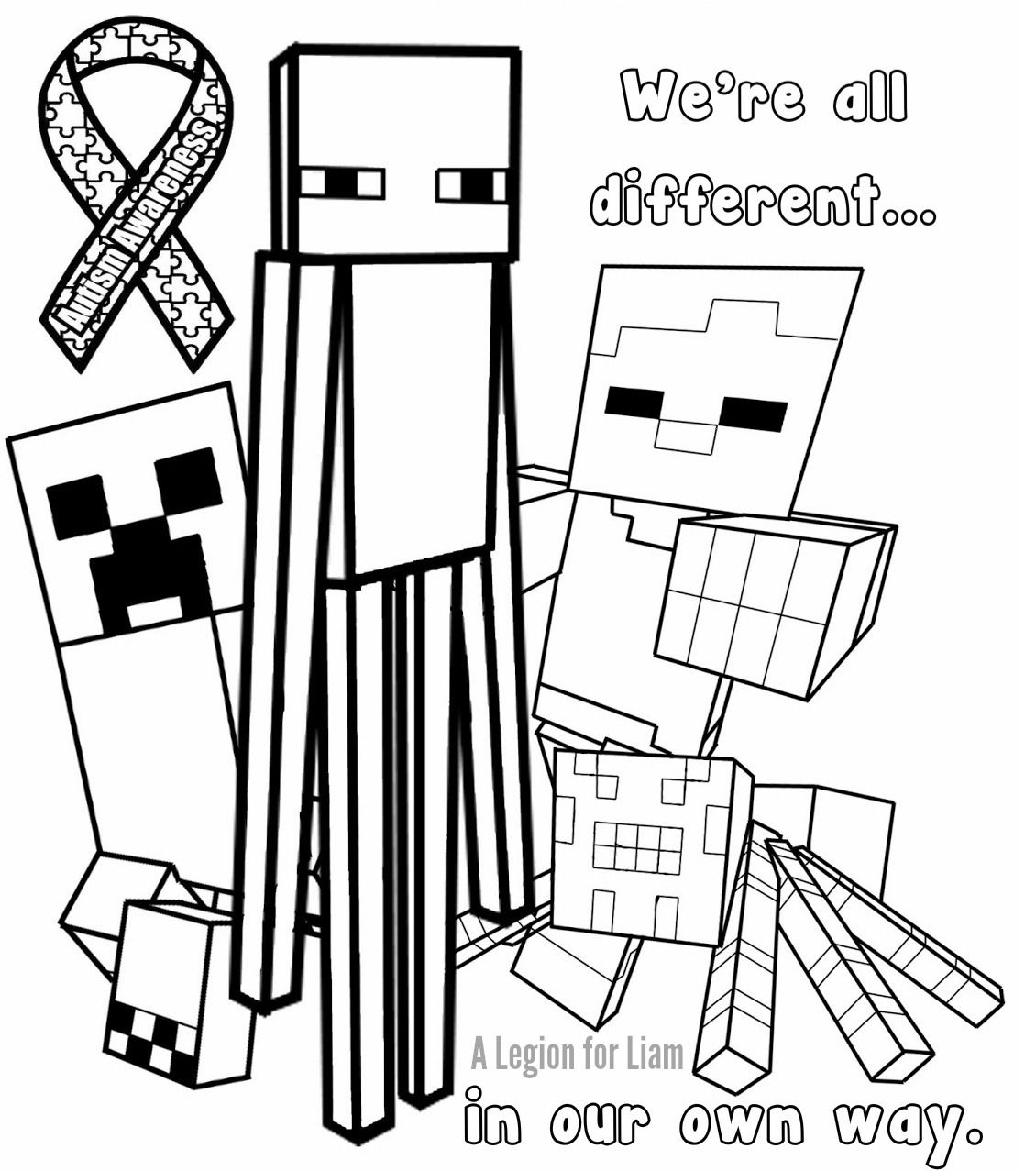 Minecraft Minecraft Coloring Pages