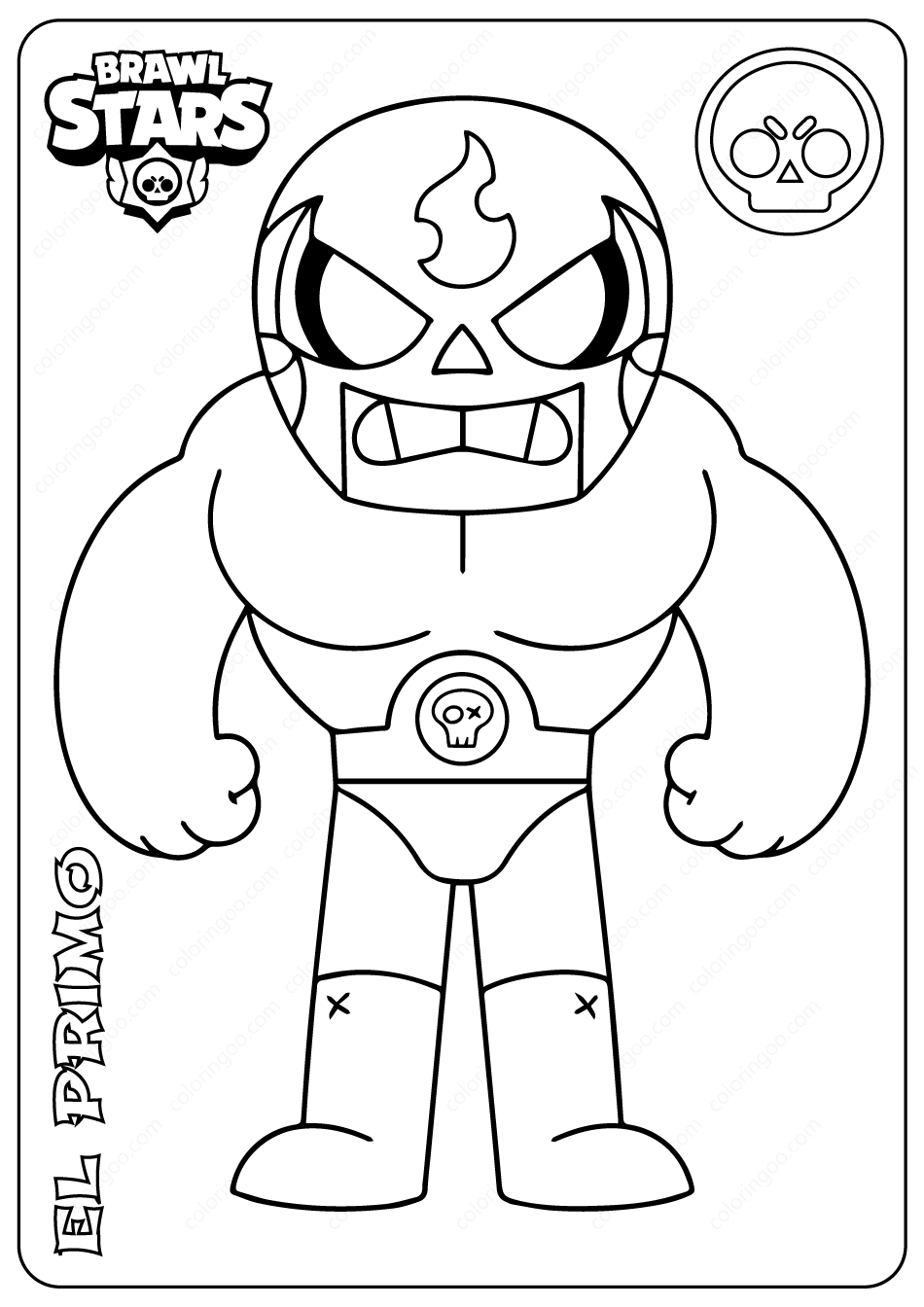 Brawl Stars Coloring Pages Shelly