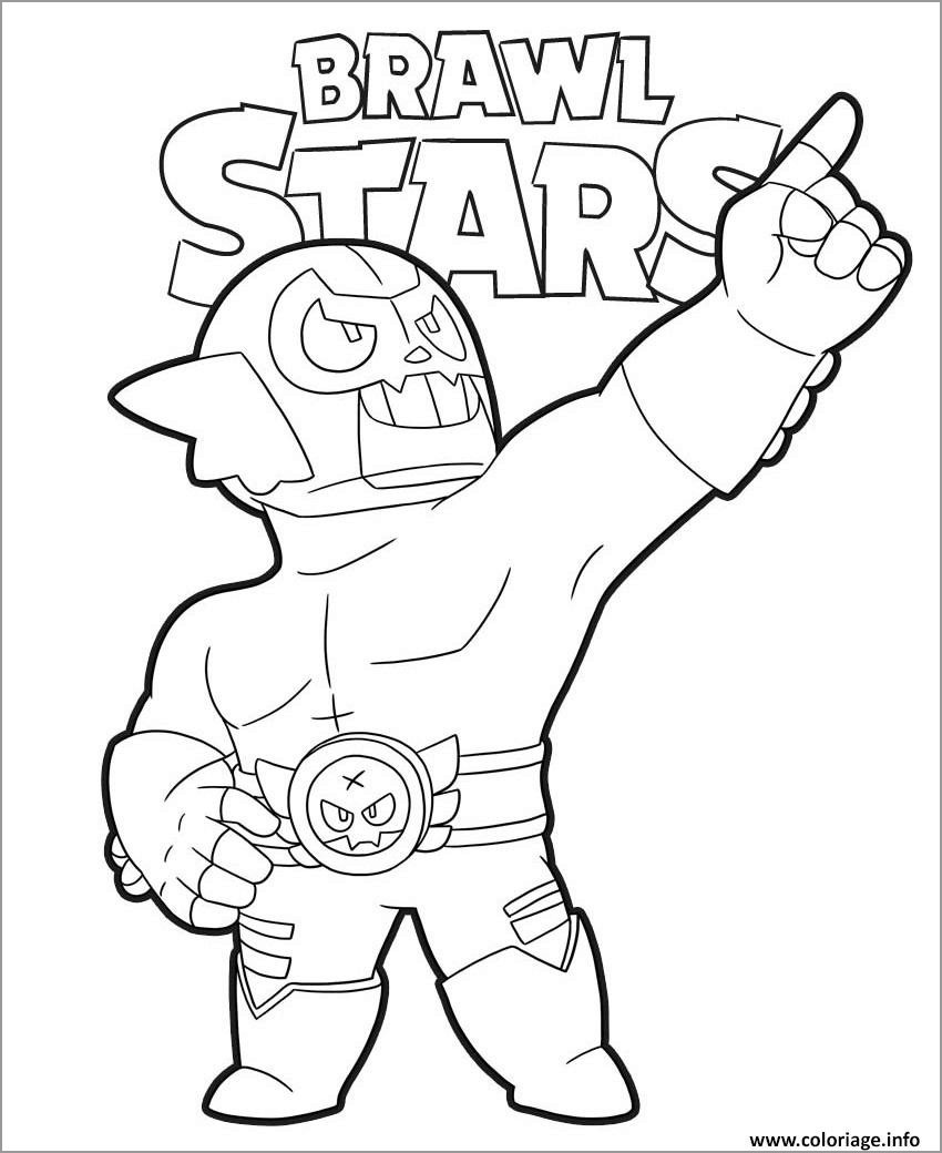 Brawl Stars Coloring Pages Robo Mike