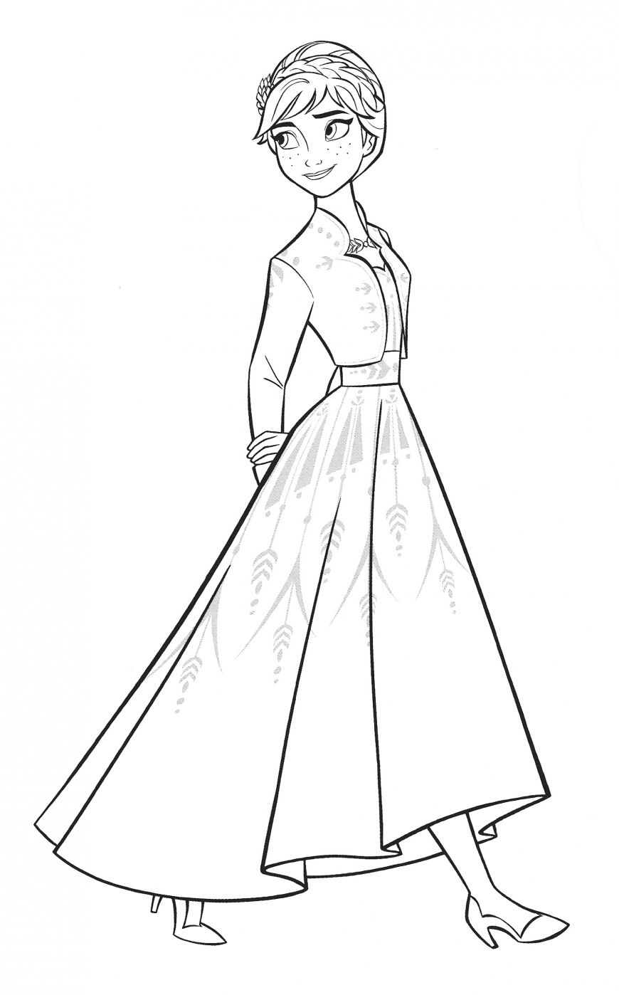 Ana Frozen 2 Coloring Pages Coloring Home