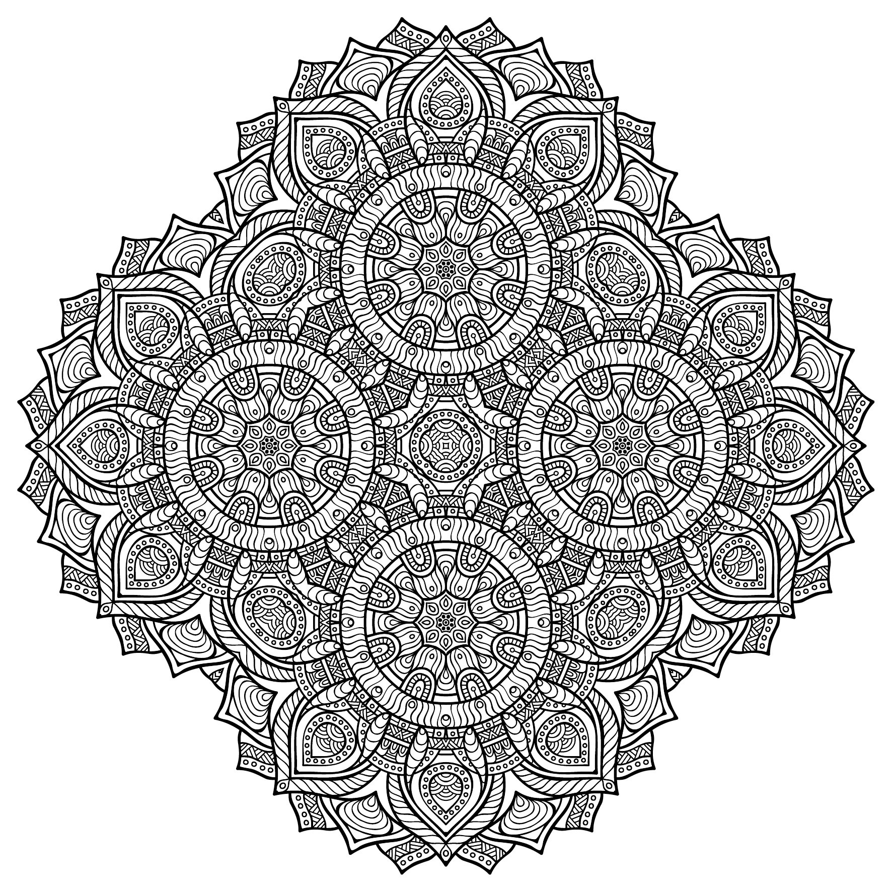 Only Mandala Colouring Book