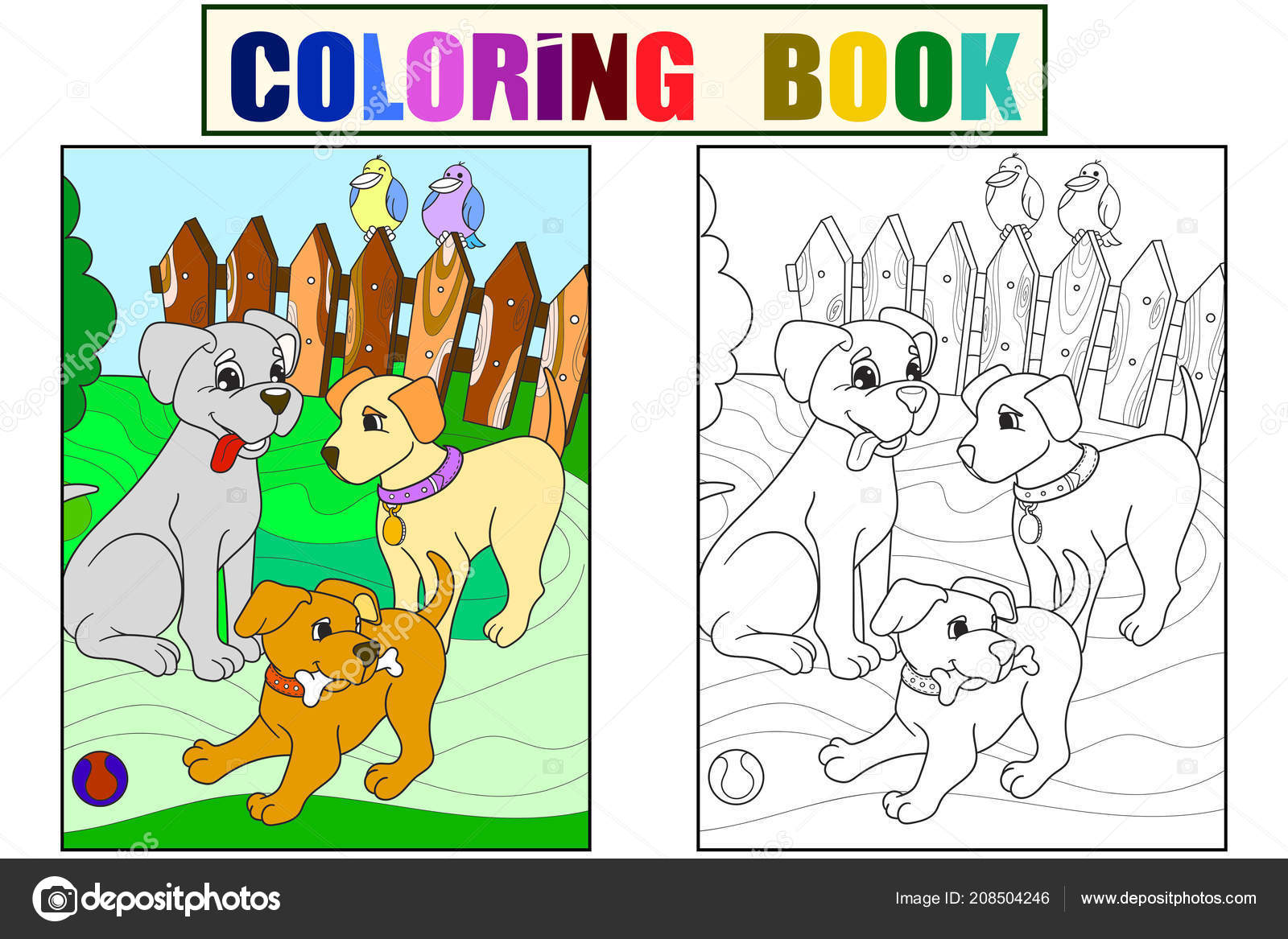 Https Cz Depositphotos Com 208504246 Stock Illustration Childrens Color And Coloring Book Html