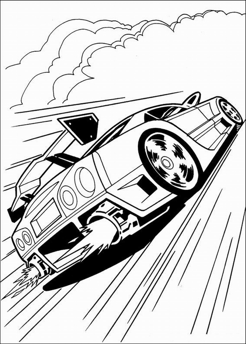 Hot Wheels Coloring Pages Printable