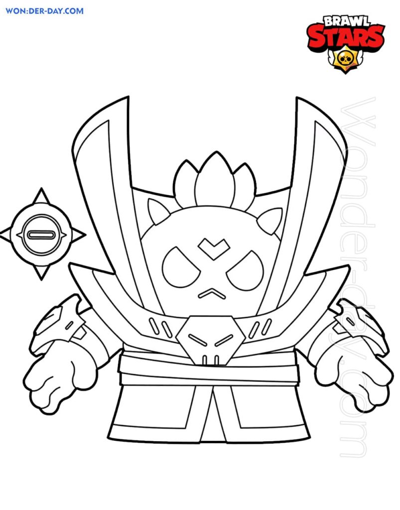 Brawl Stars Coloring Pages Print 350
