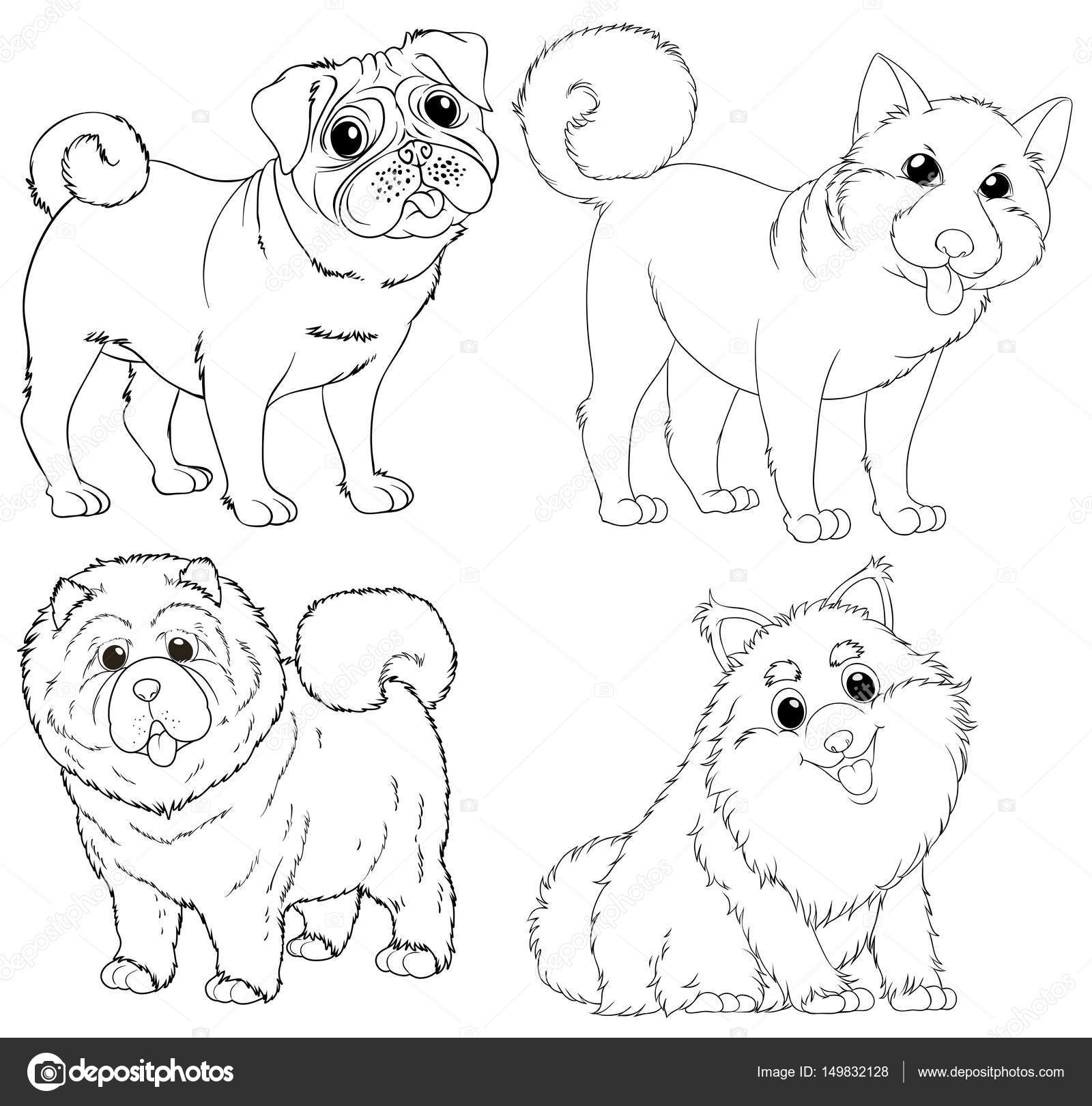 Https Cz Depositphotos Com 149832128 Stock Illustration Doodle Animal Characters For Dogs Html