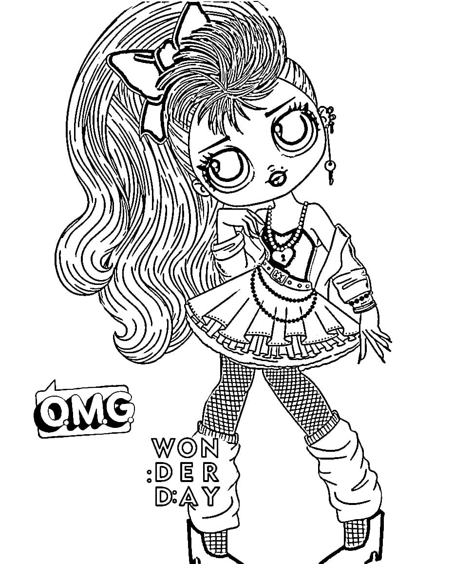 Omg Dolls Coloring Pages Lol Omg