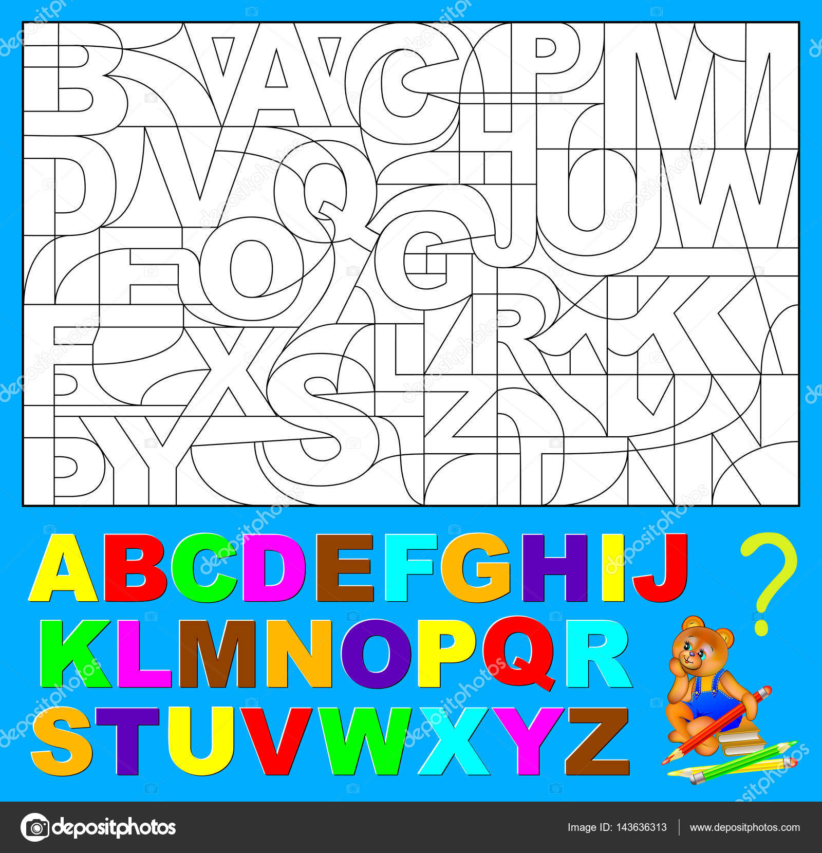 Https Cz Depositphotos Com 143636313 Stock Illustration Educational Page For Young Children Html