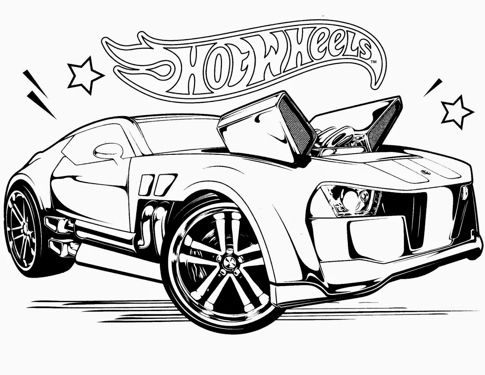 Hot Wheels Race Off Coloring Pages