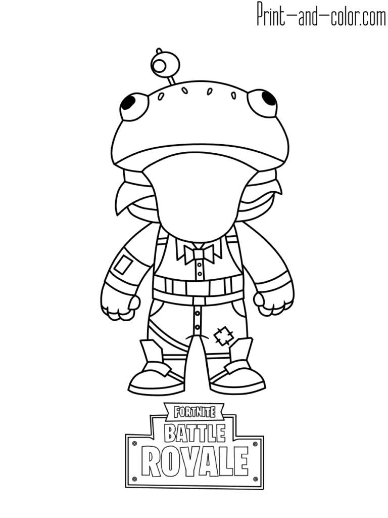 Fortnite Coloring Pages Omalovanky