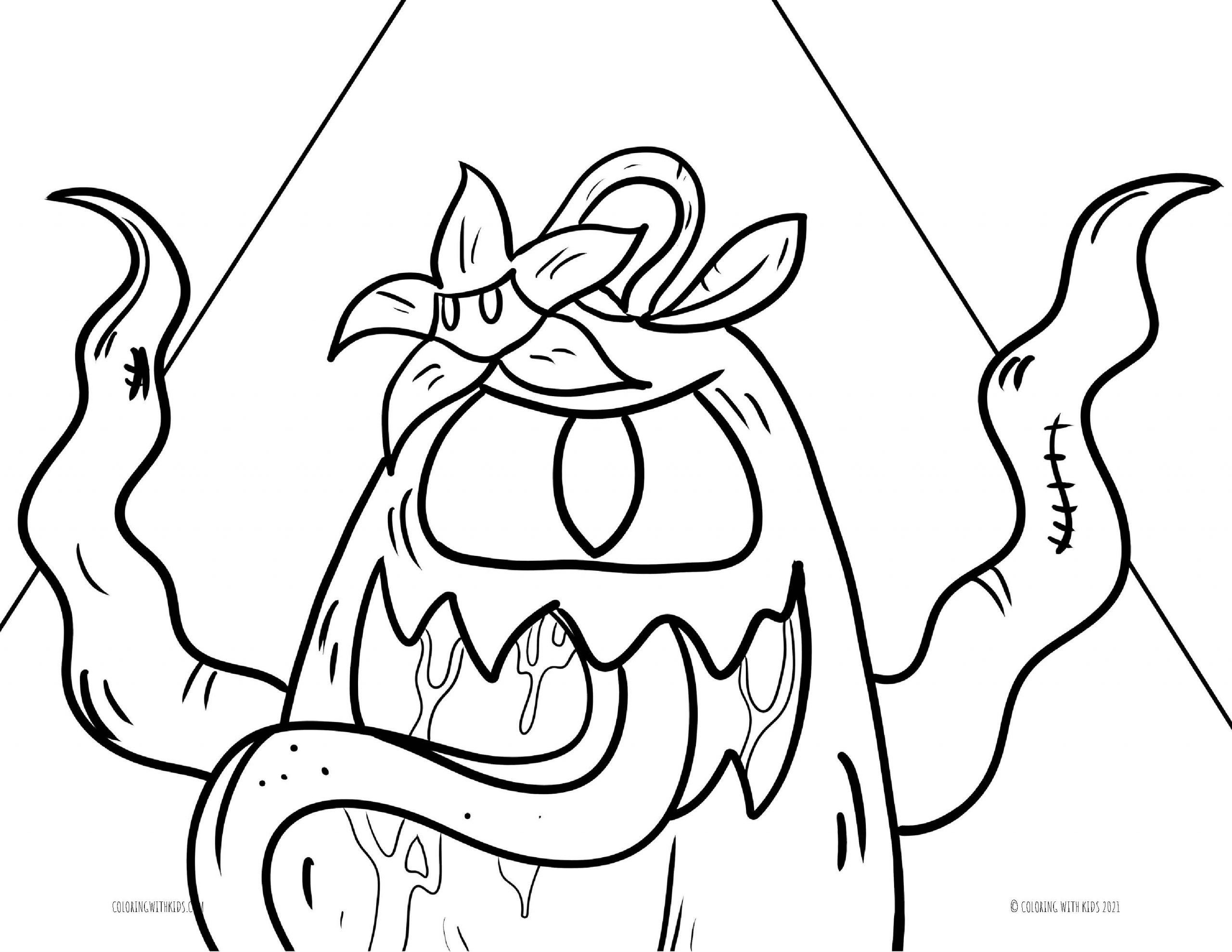 Among Us Coloring Page Imposter