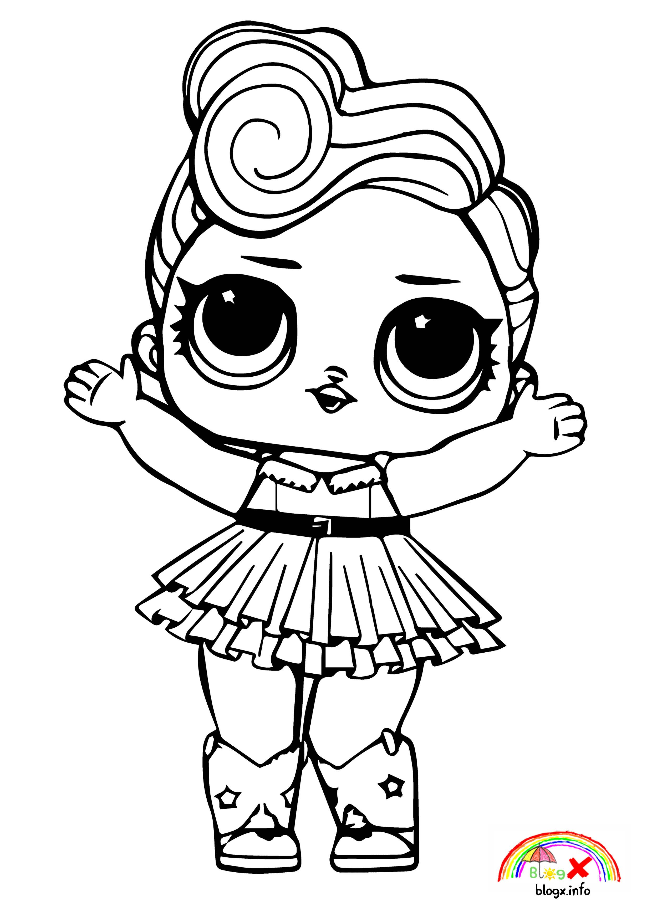 Bad Girl Lol Dolls Coloring Pages