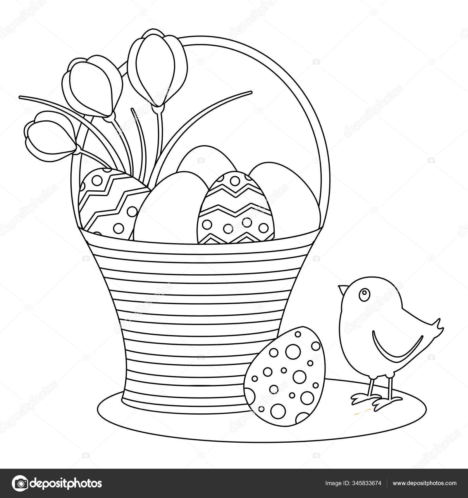 Https Cz Depositphotos Com 345833674 Stock Illustration Coloring Page Cute Chick Easter Html