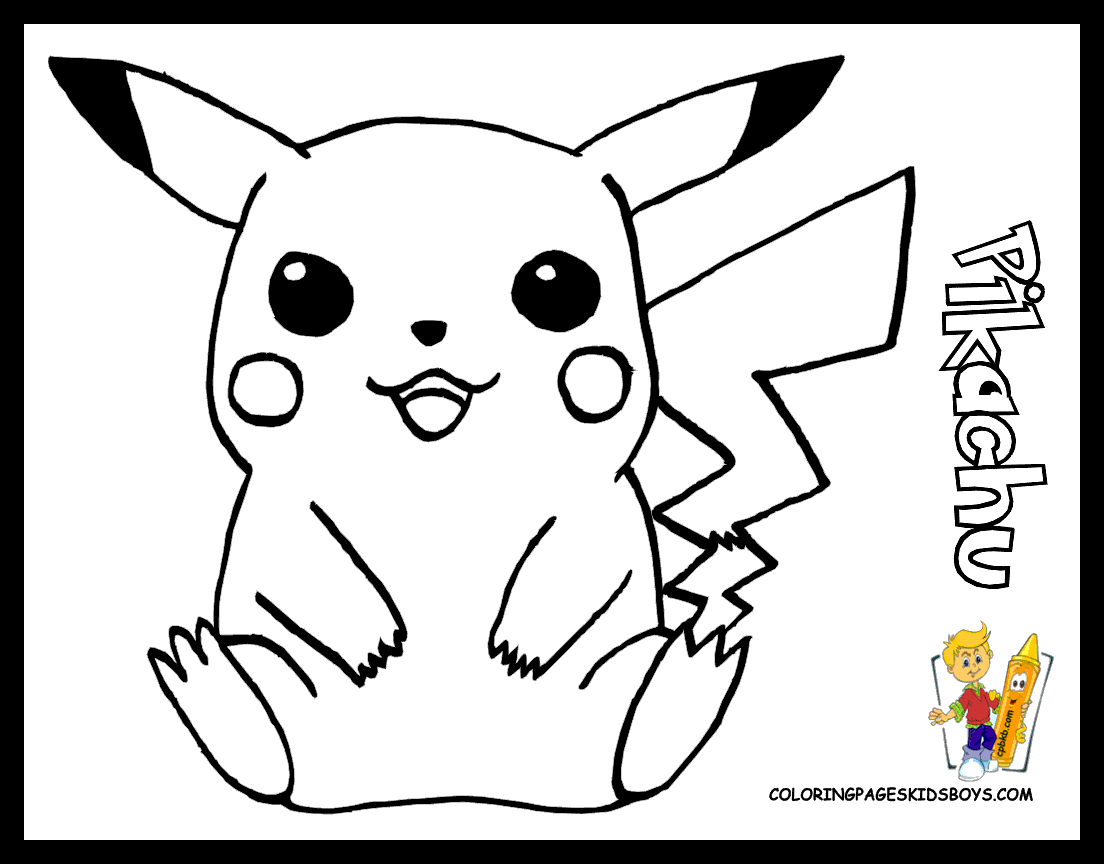 Cartoon Characters Pokemon Coloring Home