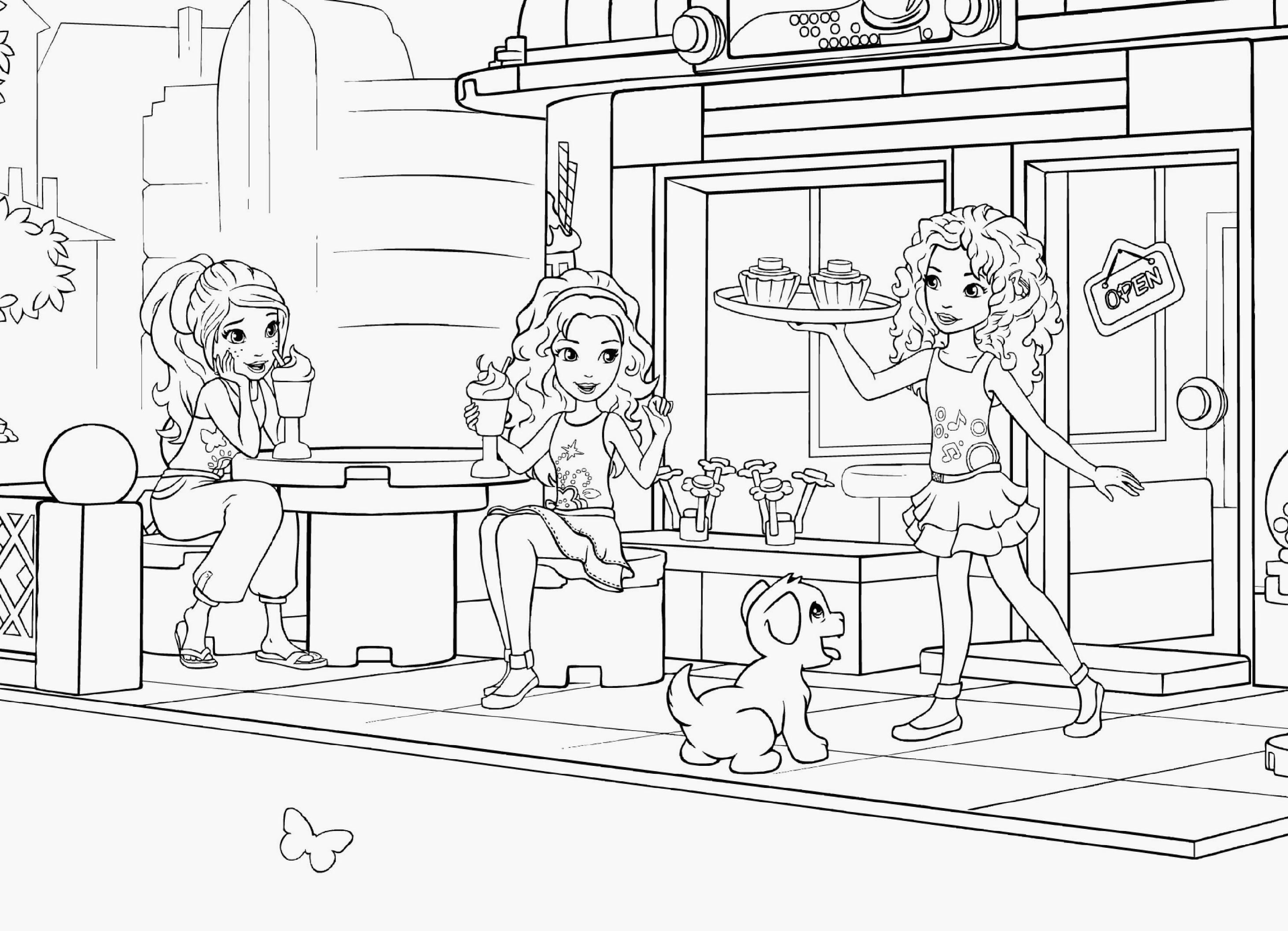 Lego Friends Coloring Pages Lego