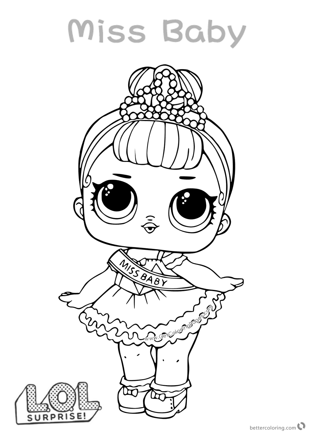 Miss Baby Lol Doll Coloring Pages