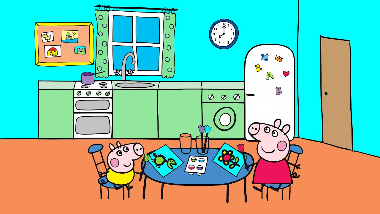 Peppa Pig Coloring Pages For Kids Peppa