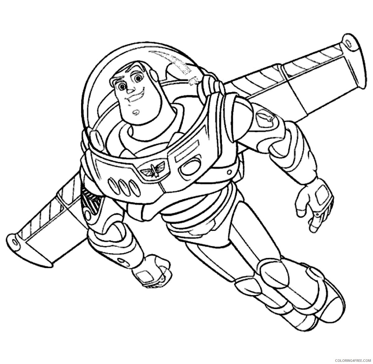 Buzz Lightyear Coloring Pages Flying